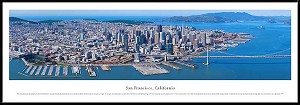 San Francisco, California Framed Skyline Picture 6