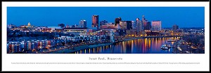 Saint Paul, Minnesota Framed Skyline Picture 3