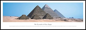 Pyramids Of Giza, Egypt Framed Skyline Picture