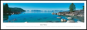 Lake Tahoe Framed Skyline Picture