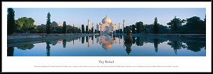 Taj Mahal Framed Skyline Picture
