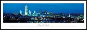 Albany New York Framed Skyline Picture