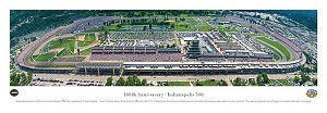 100th Anniversary Indianapolis Motor Speedway Panoramic Picture