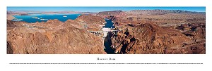 Hoover Dam Aerial Panoramic Skyline Picture