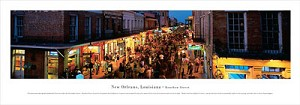 New Orleans, Louisiana  Bourbon Street Panoramic Picture
