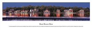 Philadelphia, Pennsylvania Boat House Row Panoramic Picture 1