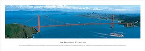 San Francisco, California Golden Gate Bridge Panoramic Picture 3