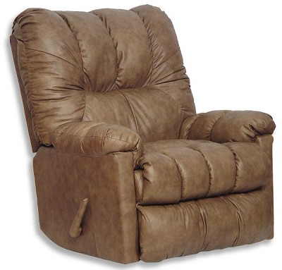 Score Smoke Leather Chaise Rocker Recliner