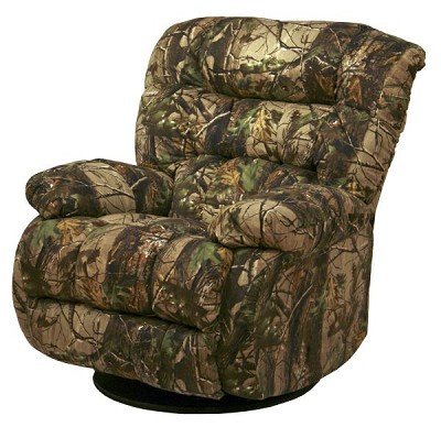 ... Bear Camouflage Chaise Swivel Glider Recliner (APG Green - Realtree