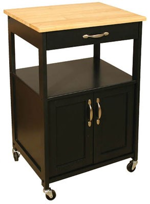 Kitchen Black Trolley Cart