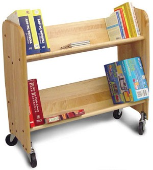 BookMaster Natural Birch Tilted Shelves