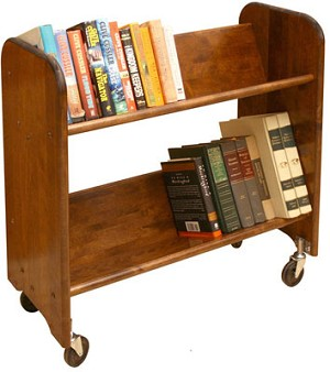 Rol-Rack Walnut Stained Birch Tilted Shelves