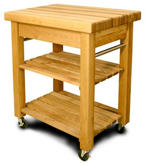 Mini French Country Butcher Block Kitchen Island