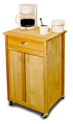 Deluxe Cuisine Butcher Block Kitchen Island Cart