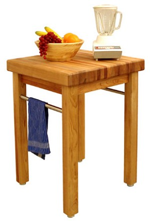 French Country Square Butcher Block Table