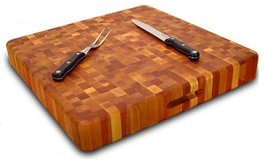 Super Slab with Finger Grooves Butcher Block Cutting Board
