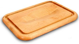 Versatile 16 Inch Wide Meat Holding Wedge Trench Cutting Board