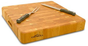 The Slab End Grain with Finger Grooves Butcher Block Cutting Board