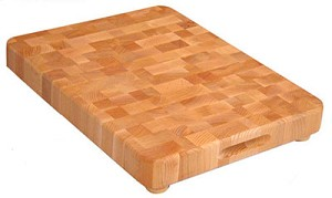 End Grain 17 Inches Wide Butcher Block Cutting Board