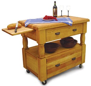Europa Butcher Block Kitchen Island