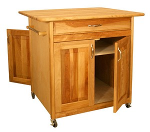 Big Butcher Block Kitchen Island Cart