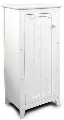 Single Door Kitchen White Storage Cabinet