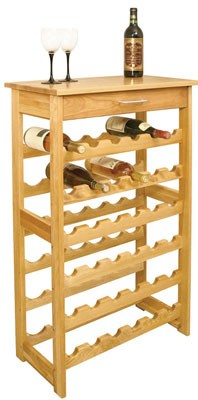 Hardwood Wine Rack 40 Inches Tall