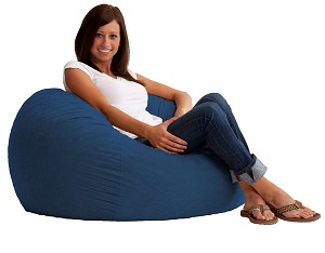 3 Foot Small Fuf Bean Bag Chair Comfort Suede Blue Sky