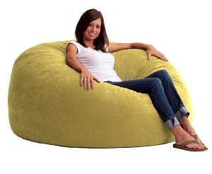 5 Foot King Fuf Bean Bag Chair Comfort Suede Sand Dune