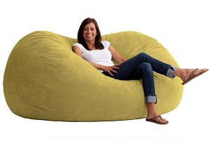 6 Foot XL Fuf Bean Bag Chair Comfort Suede Sand Dune