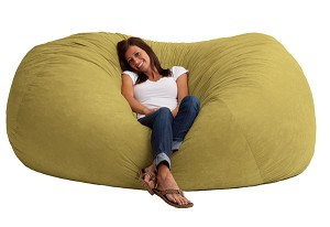 7 Foot XXL Fuf Bean Bag Chair Comfort Suede Sand Dune