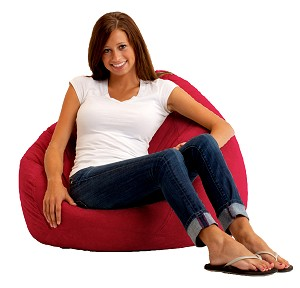 The Big Bag Bean Bag Comfort Suede Sierra Red