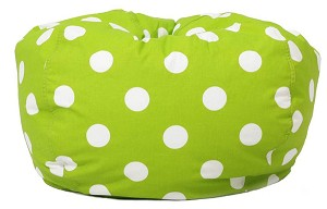 Classic Bean Bag Chartreuse With White Dots