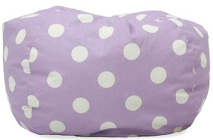 Classic Bean Bag Purple With White Dots