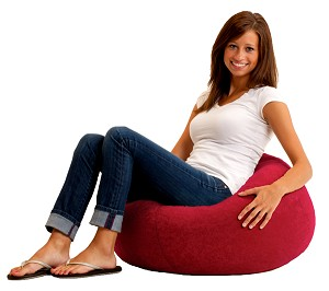 Classic Bean Bag Comfort Suede Sierra Red