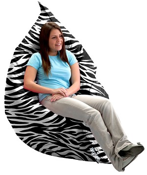 The Original Big Joe Bean Bag Zebra