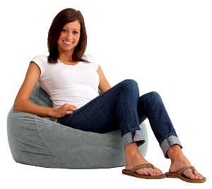 Ultra Lounge Bean Bag Comfort Suede Steel Grey