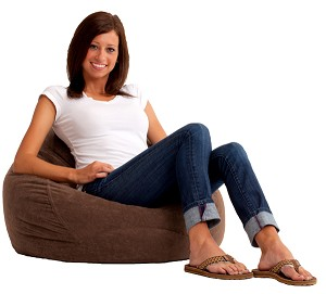 Ultra Lounge Bean Bag Comfort Suede Espresso