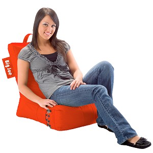 Big Joe Video Lounger Bean Bag Tangerine Tango