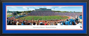 University of Kansas Memorial Stadium Deluxe Framed Picture 1