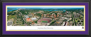 Louisiana State University Tiger Stadium Deluxe Framed Picture 1