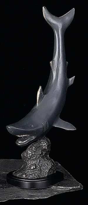 Predator Shark Bronzed Metal Sculpture T.P.