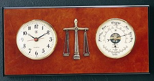 Legal Wall Clock and Barometer with Thermometer T.P.