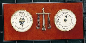 Legal Tide Clock and Barometer with Thermometer T.P.
