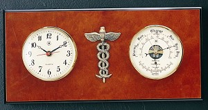 Medical Wall Clock and Barometer with Thermometer T.P.