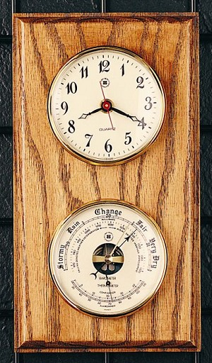 Wall Clock And Barometer Thermometer T.P.