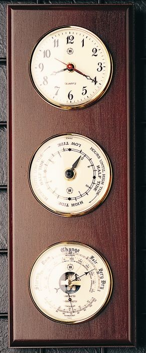 Tide And Time Wall Clock And Barometer Thermometer T.P.