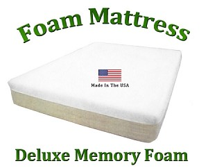 "Deluxe King Foam Mattress 10"" Total Thickness"