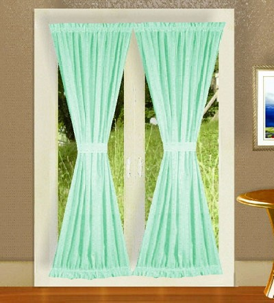 Mint green french door curtains - Mint green kitchen curtains ...