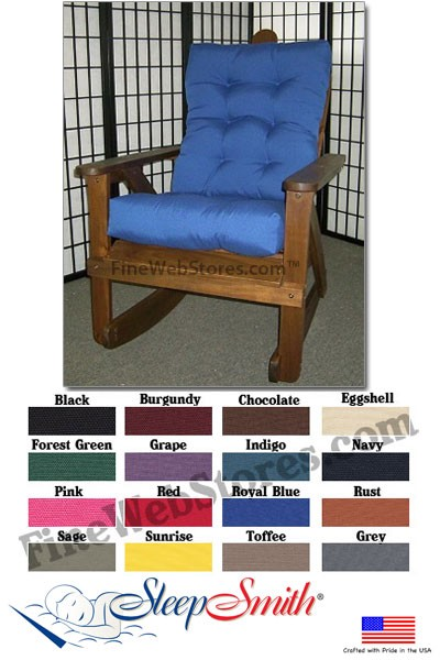 Adirondack Chair Cushion Set Duck Fabric